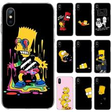 Cartoon Funny Simpson Coque DIY Luxury Phone Case For iphone 4 4s 5 5s 5c se 6 6s 7 8 plus x xs xr 11 pro max nand pro box ip nand pro for iphone 4 4s 5 5c 5s 6 6p supported for ipad 2 3 4 5 6 supported