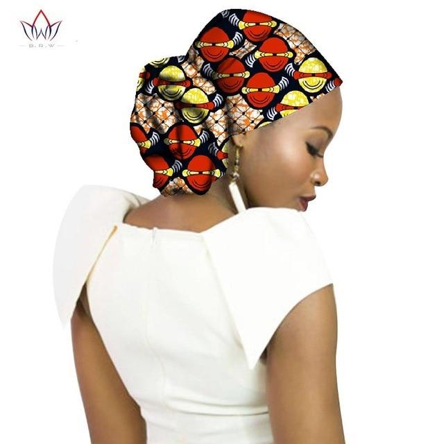 African Wax Fabric Turban Dashiki Print Ankara Bonnets Accessories Bandanas Lady Hijab Scarf Hat Long Tail Cap South Africa