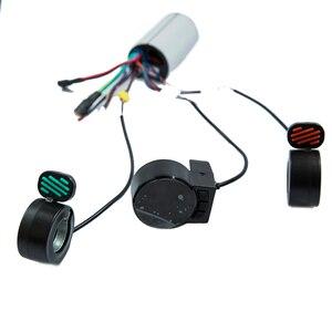 Image 4 - Mini Round Electric Bike Scooter Controller Brake LCD Unit Carbon Fiber Scooter Motor Controller 24v 36v 48v 250w 350w