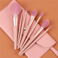 7pcs Make Up Brush Set With Bag Pink Handle Delicate Makeup Brushes Powder Foundation Contour and Eye Brushes 2020 NEW T07085 new coastal scents 22 pieces makeup brushes make up brush set eyeshadow contour powder contour cream brush tools dhl free shipp