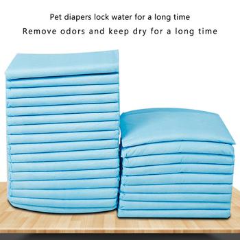 4 rozmiar Super chłonne zwierzę pieluchy dla psów s kot szkolenia psów moczu ochraniacze na siusiu zdrowa czysta mata do nauki czystości jednorazowe pieluchy dla psów podkładka szkoleniowa tanie i dobre opinie CN (pochodzenie) dogs and cats genera