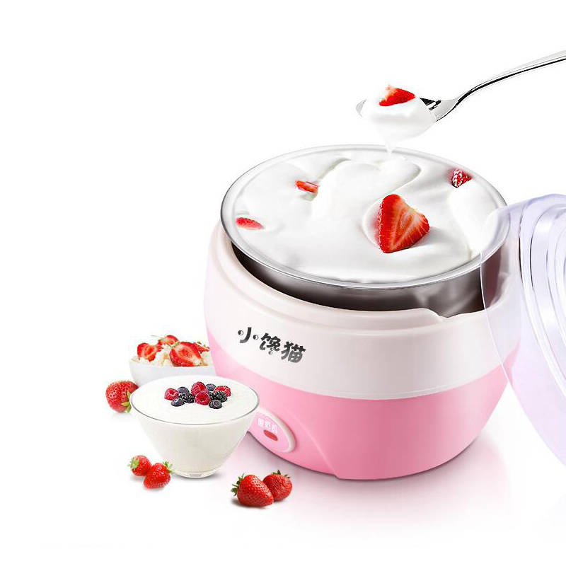 Home Icecream Automatic Fruit Ice Cream Machine Maker Yoghurt Dessert Maker Double Insulation Frozen Barrel