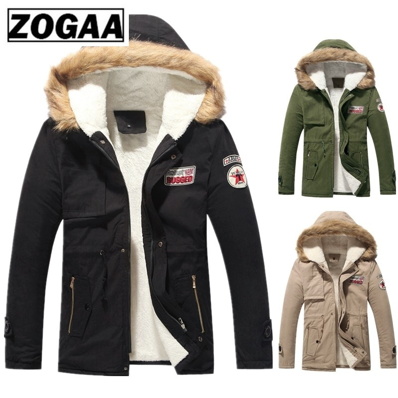 ZOGAA новое осенне зимнее пальто толстая теплая куртка мужская и женская хлопковая с капюшоном Корейская плюс бархатная парная хлопковая парка пальто