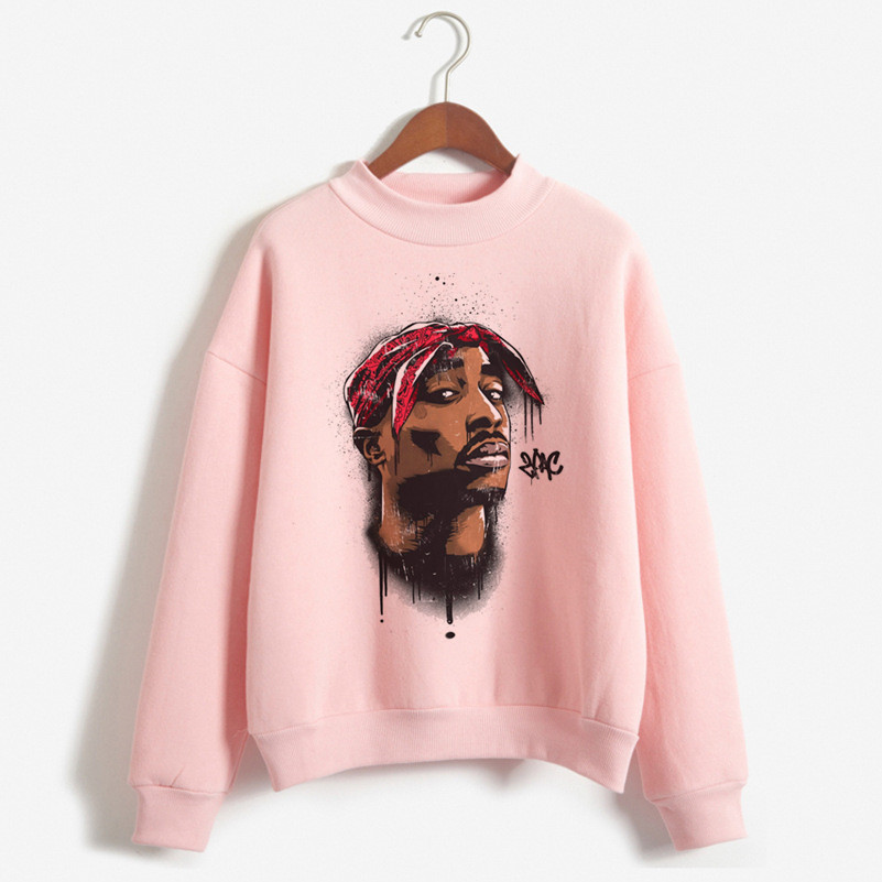 2019 Newest Tupac 2pac Hip Hop Swag Print Hoodies Women Clothes Fashion Vintage Hoodie Womens Clothing 90s Harajuku Sweatshirt
