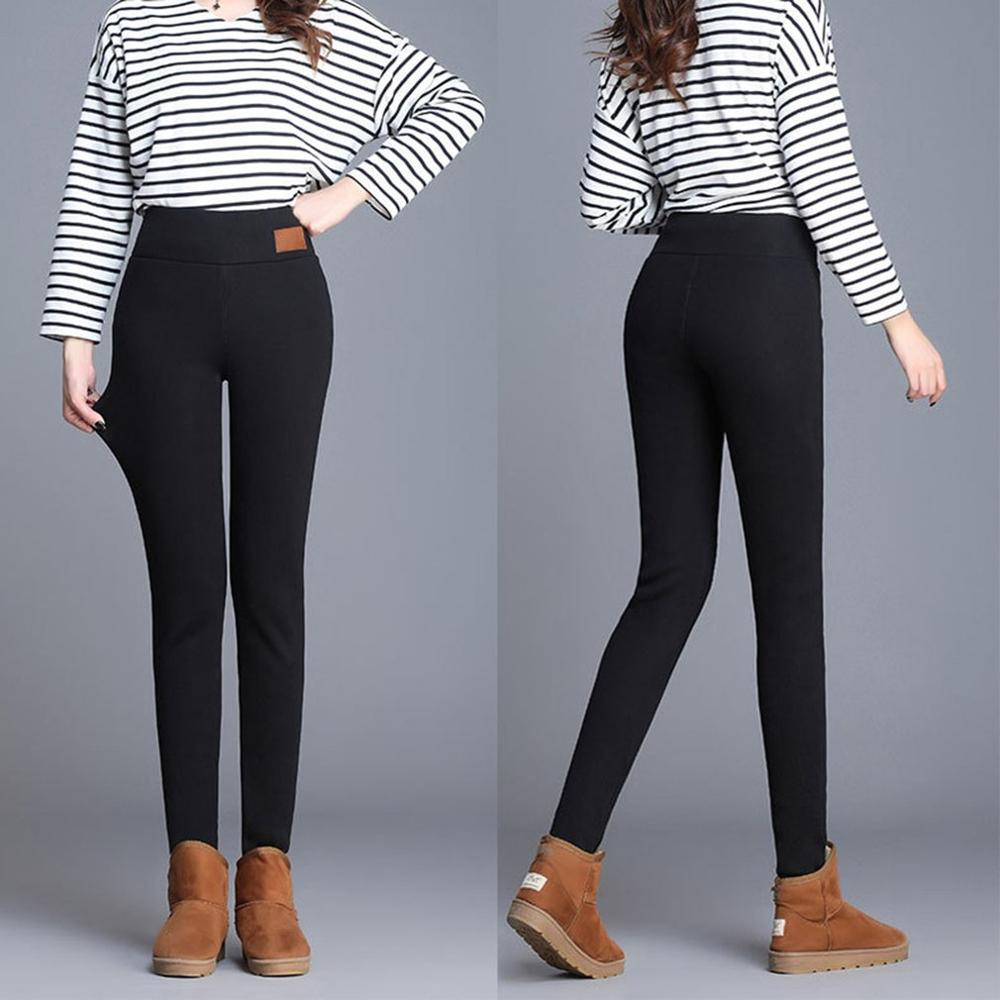 Warm Pants Winter Skinny Thick Velvet Wool Fleece Girls Leggings Women Trousers Lambskin Cashmere Pants For Women Leggings