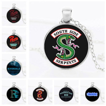 Riverdale Southside Serpents Funny Pop Chock'lit Shoppe Logo Pendant Necklace Men Women Cosplay Sweater Chain Halloween(China)