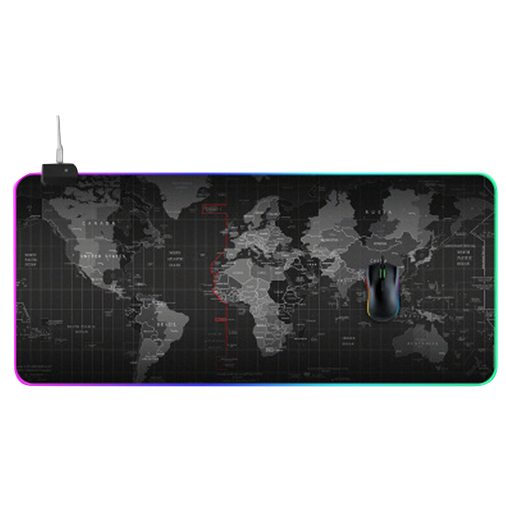 Ouhaobin <font><b>900x400</b></font> mm Gaming Mousepad for Gaming Mouse keyboard XL 14 LED lighting-Mode computer mouse pad image