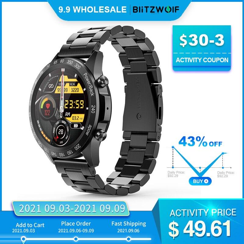 [ 300mAh ] BlitzWolf BW-HL4 Smart Watch Men Smartwatch Bluetooth-compatible Smart Watches Sport Fitness Tracker Wristband Clock