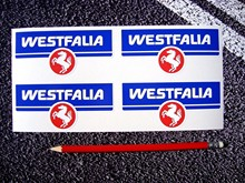 For x4 WESTFALIA Stickers Westy VW VDUB Splitty T25 BAY T2 Volkswagen Factory Size