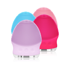 Mini Electric Facial Cleansing Brush Silicone Sonic Vibratio