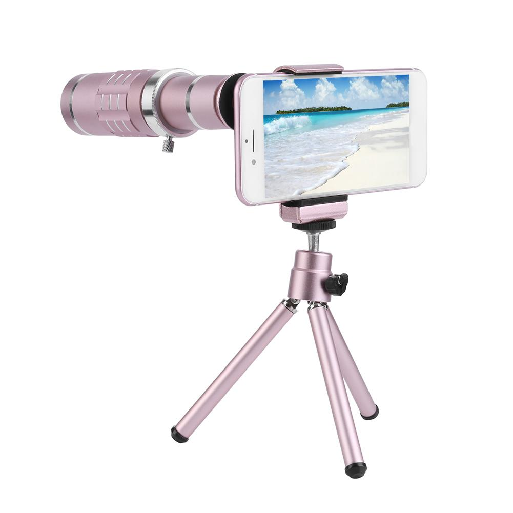 18x Zoom Optical Telescope Telephoto Lens 18 Degree Visual Angle with Tripod Metal Clip Kit Universal Smart Phone Camera Lens image