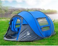 HUI LINGYANG Throw pop up tent 5 6 Person outdoor automatic tents Double Layers large family Tent waterproof camping hiking tent