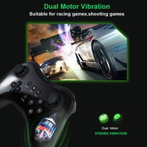 Image 3 - Czarny klasyczny podwójny analogowy bezprzewodowy pilot Bluetooth U Pro kontroler do gier Gamepad do Nintendo na Wii U