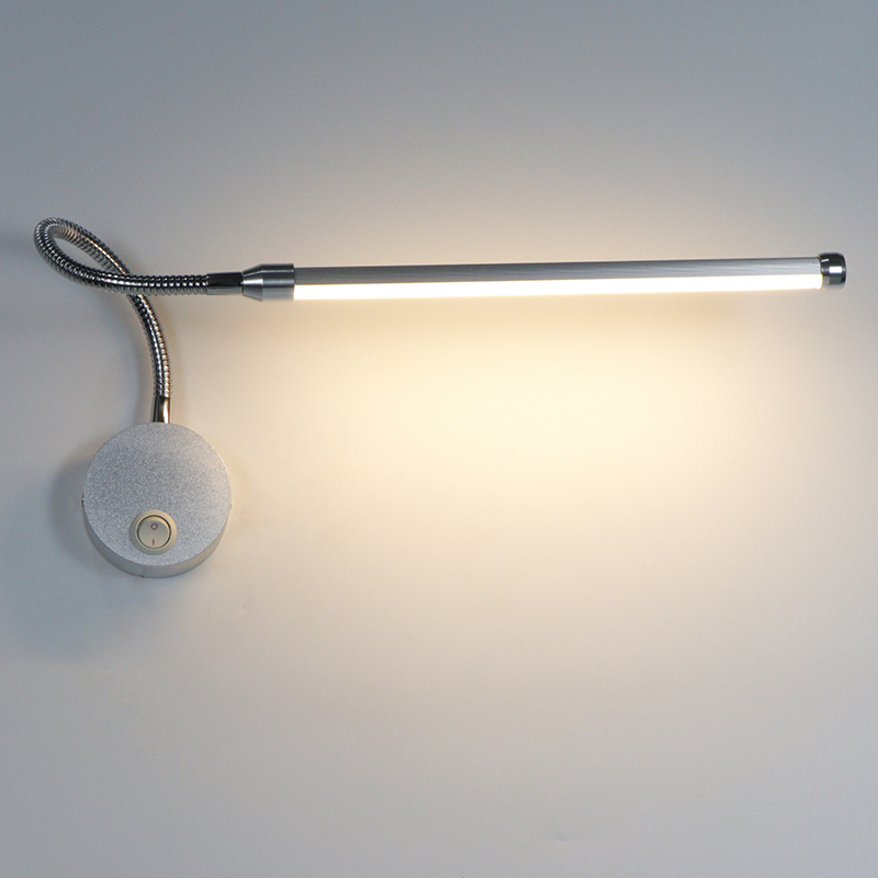 Bedroom Wall Light Bedside Reading Lighting 6W LED Wall Lamp With Knob Switch Aluminum 360 Degree Angle Adjustable AC90-260V