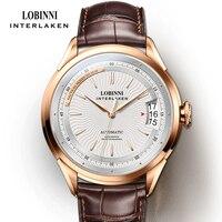 LOBINNI Luxus Marke herren Uhr Sapphire 50M Wasserdichte Automatische Mechanische Uhren Business Männlichen Hohe Qualität Armbanduhr