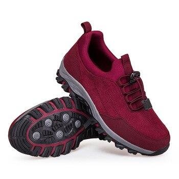 Koovan Men Women Sneakers 2020 Winter For Elder Comfortable Flat Dad Shoes Casual