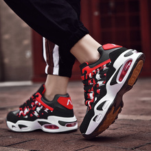 цена New Men Casual Shoes Breathable Men Sneakers Pu Leather Men Lace-up Fashion Male Flats Shoes White Red Blue Size 39-46 9066 онлайн в 2017 году