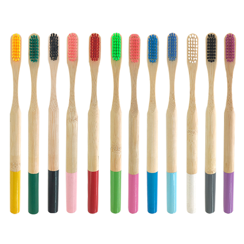 12pcs Eco-friendly Adults <font><b>Bamboo</b></font> Wood <font><b>Toothbrush</b></font> <font><b>Bamboo</b></font> Charcoal Tooth Brush Wooden New Design Mixed Color <font><b>Bamboo</b></font>-<font><b>toothbrush</b></font> image
