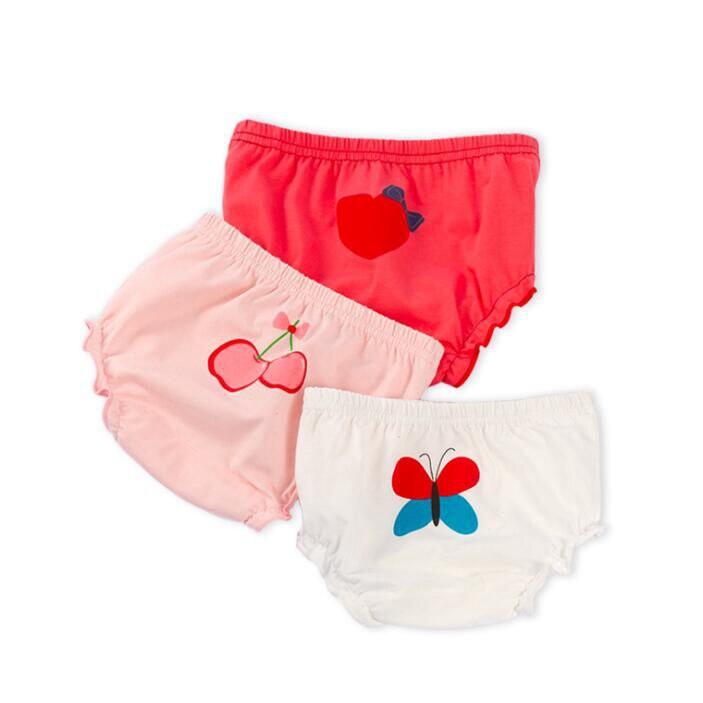 Braga de bebé para chica, ropa interior de algodón a la moda para chicas, calzoncillos cortos, braguitas cómodas de dibujos animados bonitos para niños, ropa para bebé NP010