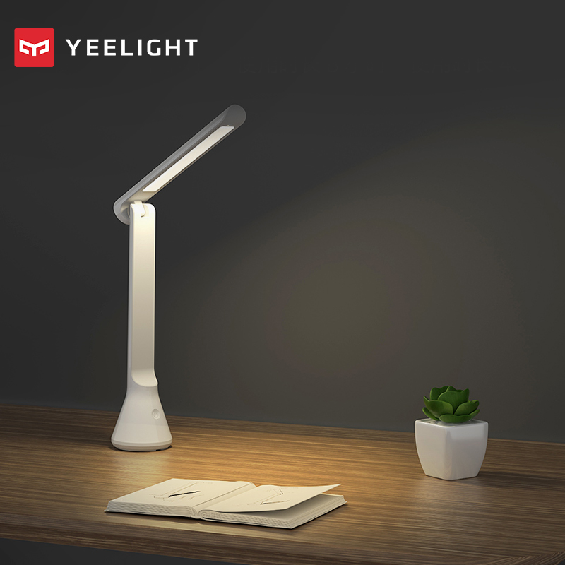 Original xiaomi mijia Yeelight Folding USB Rechargeable LED Table Desk Lamp Dimmable-in Smart Remote Control from Consumer Electronics