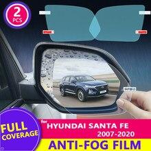 Para hyundai santa fe 2007-2020 (cm dm tm) espelho retrovisor filme hd anti-nevoeiro à prova de chuva auto espelho adesivo acessórios do carro