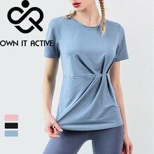 лучшая цена Quick Dry Stretch Slim Fit Yoga Tops Women Sport T Shirt Gym Fitness Shirt Yoga Running T-shirts Female Sports Top Deporte Mujer