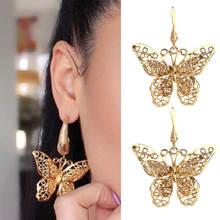 Женские серьги бабочки flatfoosie элегантные сережки золотого