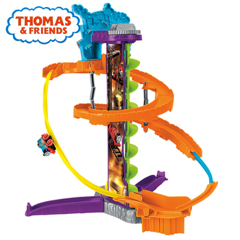 Thomas & Friends Minis Diecast Train Railway Building Steelworks Stunt Set Kid Toys Learning Track with Train FGR17 For Kid