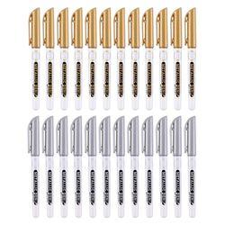 12 sztuk DIY metalowe wodoodporne markery permanentne złoto srebrne rękodzieło pióro rysunek