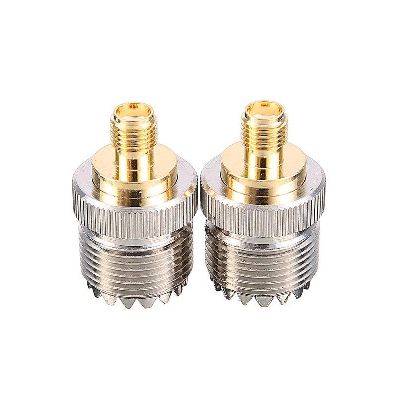 2 pièces adaptateur d'antenne SMA prise femelle S021A à UHF-F SO239 pour Baofeng UV-5R/PX-777/PX-888 talkie-walkie connecteur Jack pièces