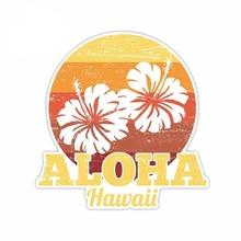 Car Stickers Aloha Hawaii Summer Retro Car Stickers Refrigerator Windshield Decal Bumper Anime  Assessoires Van Stripes Decals