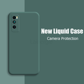 For Huawei Enjoy 20 Pro Case New Liquid Silicone Soft Matte Camera Protection Cover For Huawei Enjoy Z 5G Phone Cases