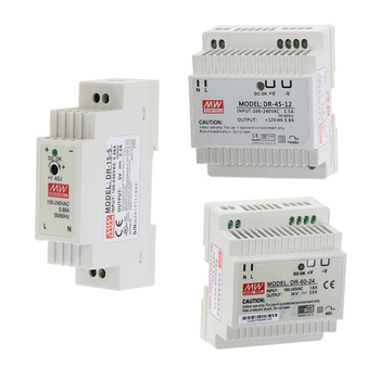 DR-15 DR-45 DR-60 15W 45W 60W Single Output 5V 12V 15V 24V Industrial Din Rail Switching Power Supply DR-15/45/60-5/12/15/24