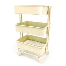 Mini wózek podłogowy regał magazynowy z kółkami domek dla lalek miniaturowe meble półka regał stojak do przechowywania i ekspozycji udekoruj