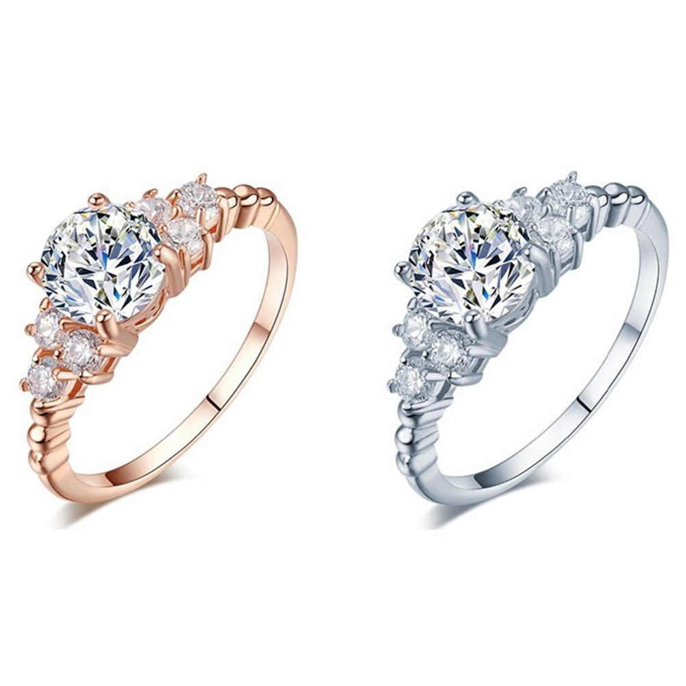 Новый горячий роскошный резной филигранный Свадебный с фианитами кольцо наборы для женщин ювелирные изделия мода оптовая продажа Anillos подарок