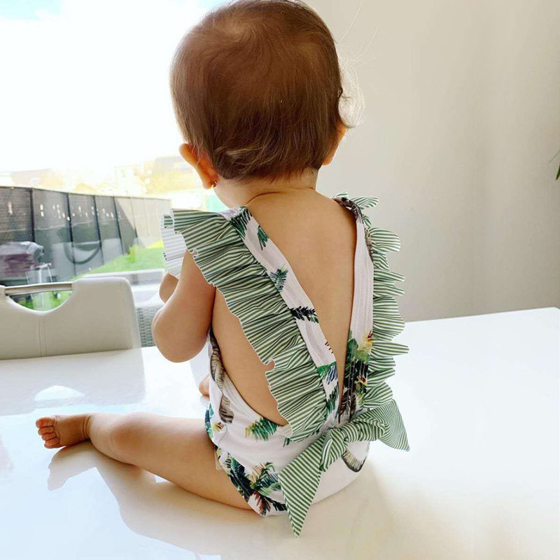 Girl'S Swimsuit INS New Style Small CHILDREN'S One-piece Infants Princess Holiday Hot Springs Swimwear Baby GIRL'S 1-5-Year-Old