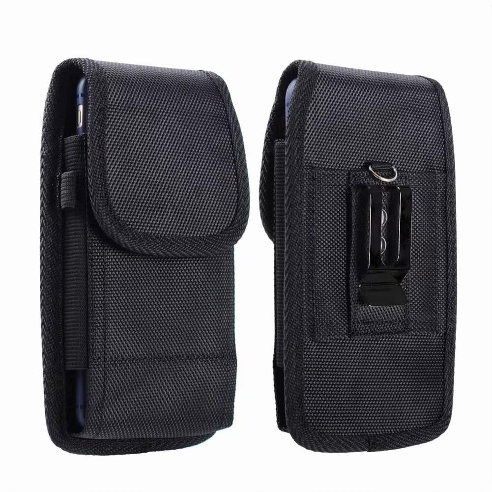 Black Phone Pouch Hanging Waist Storage Bag Unisex Portable Fanny Pack Black Classic Belt Clip Pouch Case For Waist Bag