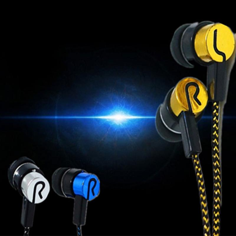 Noise Isolating Earphone Wired Earphones Jack Standard Reflective Cloth Line In-ear Earbuds without Mic Gift(China)