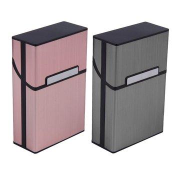 Lady Aluminum Slim Cigarette Box Cigar Accessories Case Cigar Tobacco Easy To Carry Box Storage Container Gift Box 6 Colors