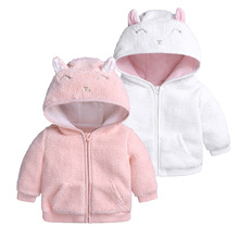 Coat Jacket Baby-Girl Winter Children's Autumn Lamb Infant for Thickening Wool