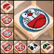 Cartoon Smyrna Latch Hook Rug Kit Do-It-Yourself Carpet Crocheting Yarn Mat Needle for Carpet Embroidery Cushion Button Package иглы latch needle sk 860