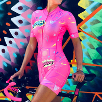 Pink Cycling Clothing vvdesigns Custom Triathlon Suit Bike Skinsuit Women Cycling Racing Suit Team Bike Kits Ropa Ciclismo Mujer