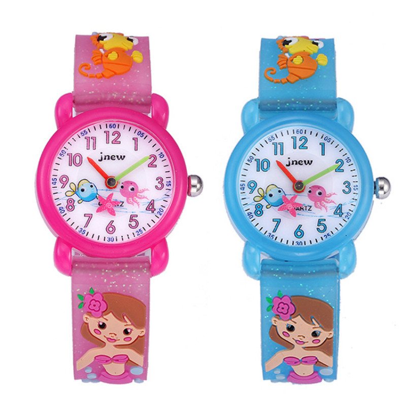 3D Silicone Cartoon Children Watch Cute Waterproof Quartz Watch Primary School Girl Watch