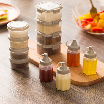4pcs Plastic Sauce Squeeze Bottle Mini Seasoning Box Salad Dressing Containers Outdoor Portable Barbecue Spice Jar Kitchen tool mini salad dressing squeeze bottle silicone sauce jars for ketchup mustard mayonnaise condiment dispenser lunch box