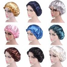 Satin Women Hair Care Bonnet Cap Sleepin