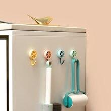 Geladeira gancho papel de parede acessórios da cozinha banheiro gancho da porta gancho de parede fixação para cozinha banheiro sala de jantar