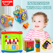 huanger Baby Toys Multifunctional Learning Cube With Clock S