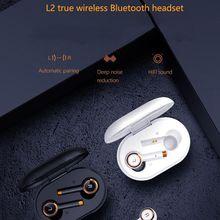 Tws fone de ouvido sem fio bluetooth 5.0 à prova dwaterproof água fones redução ruído para xiaomi huawei iphone l2 hd música