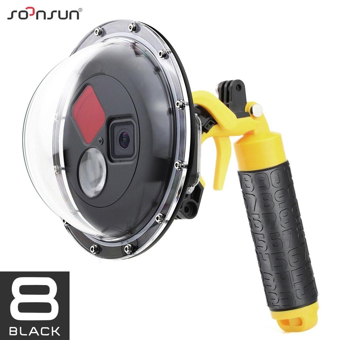 SOONSUN 45 м фильтр для дайвинга переключаемый купольный порт водонепроницаемый корпус чехол с триггером для GoPro Hero 8 Black Go Pro 8 аксессуары