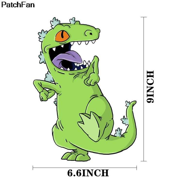 Patchfan Cartoon dinosaurier Kleidung Patches Wärme presse Transfers Aufkleber Eisen-auf Handgemachte Appliques für Jeans Mantel T-shirts A2527